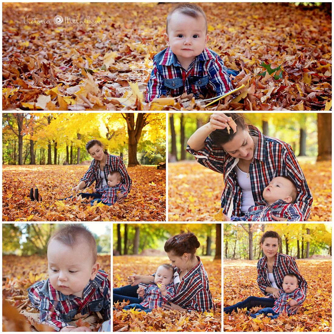 Fall baby photo session