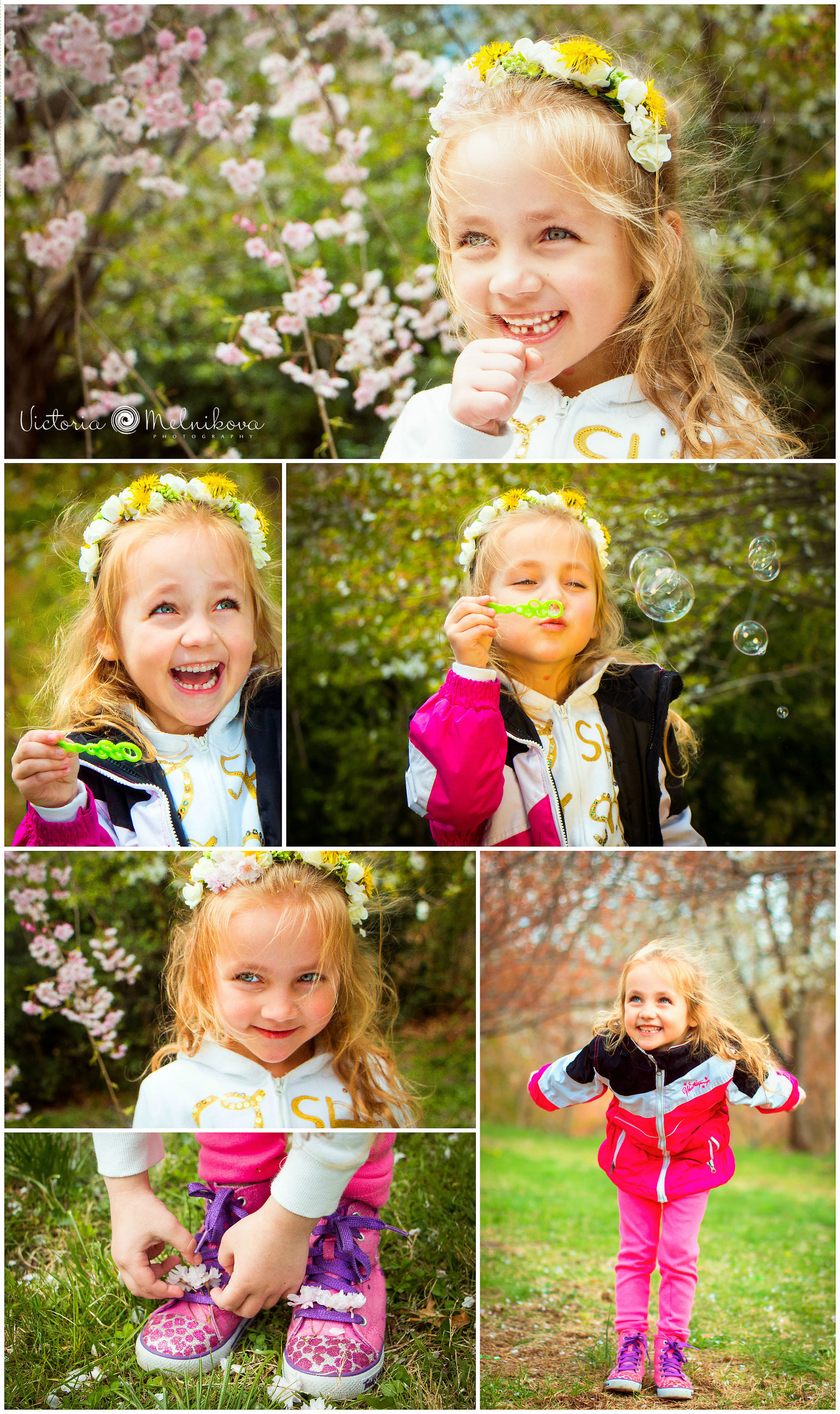 Kids spring photo ideas