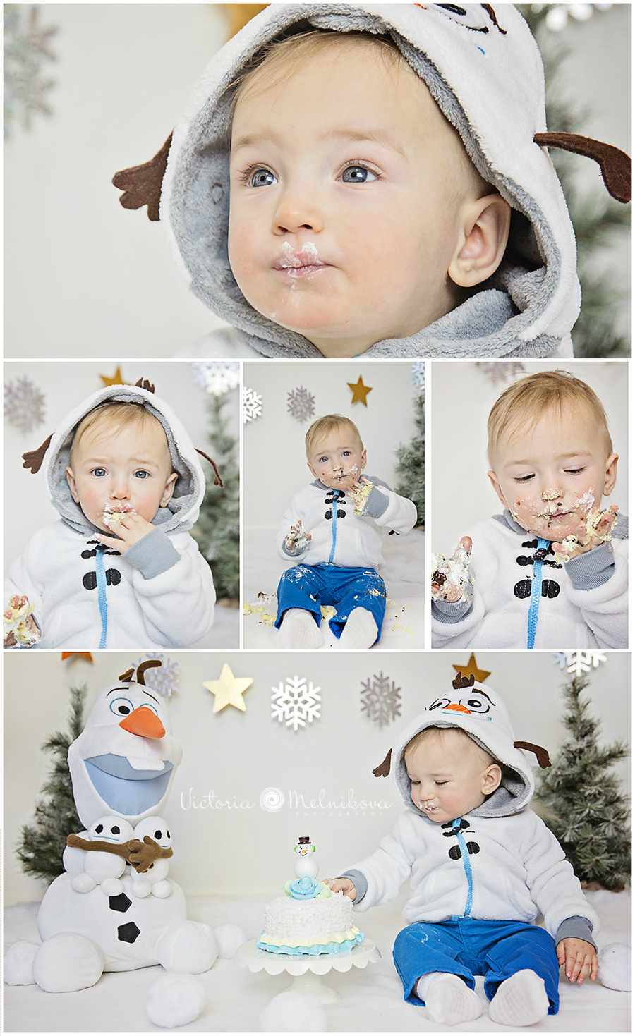Cake smash winter photography ideas