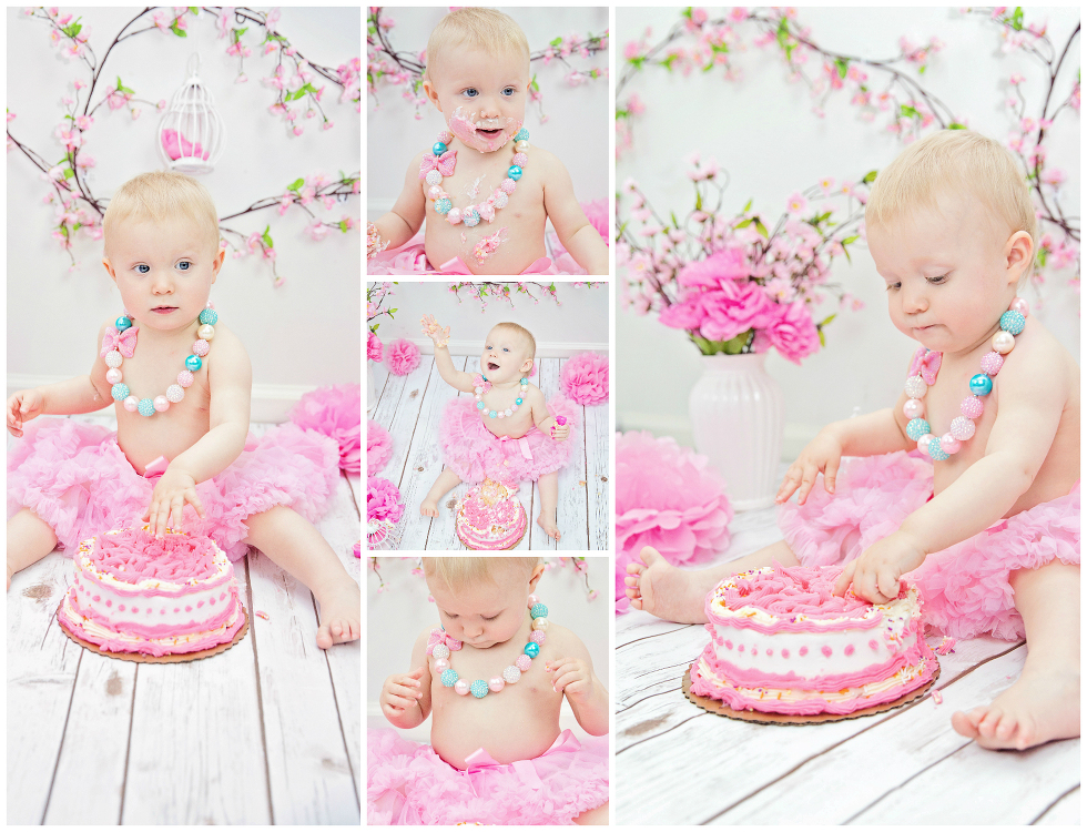 Cake smash photo ideas for baby girl