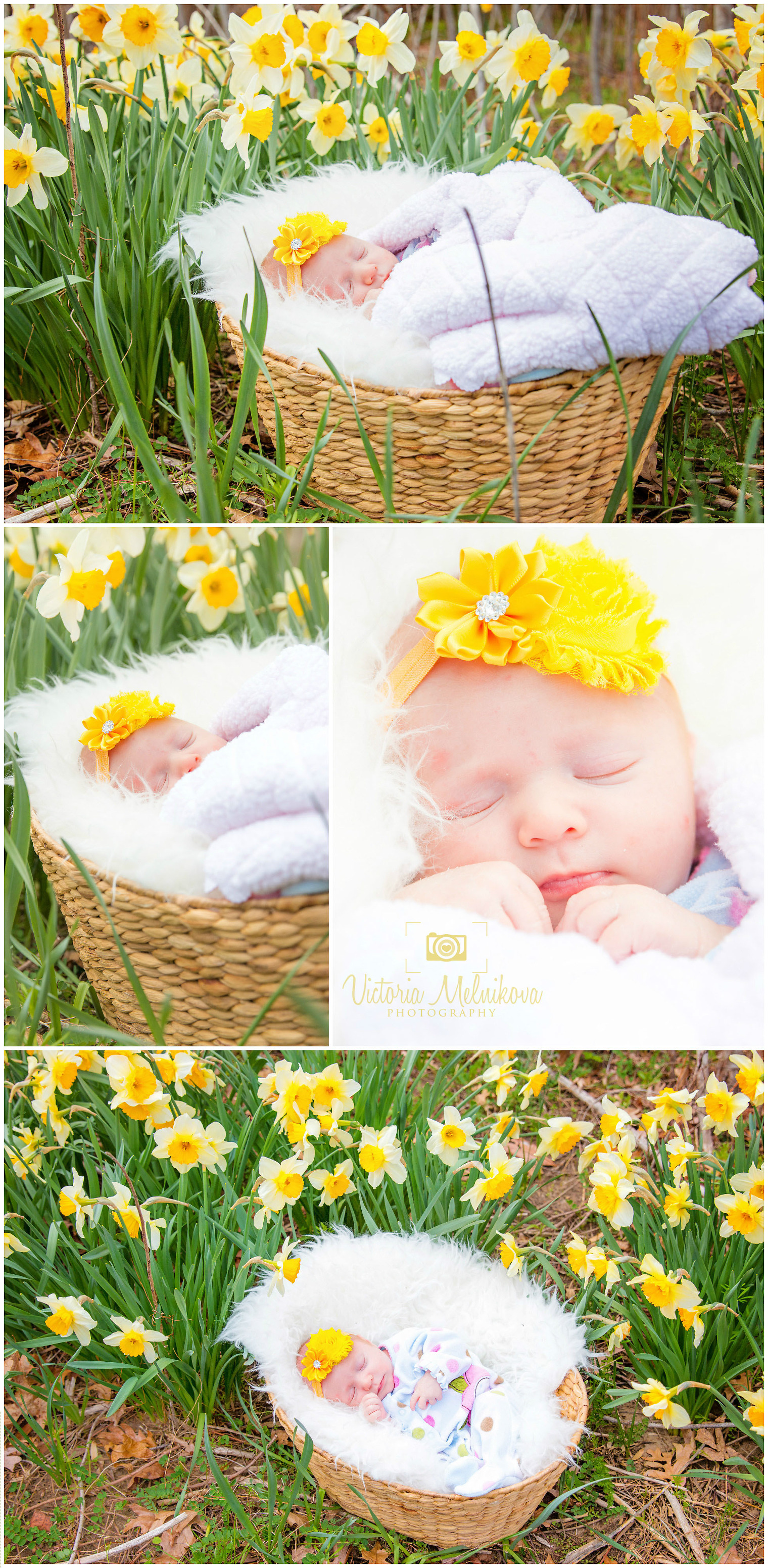 Newborn photo session in the park. New Jersey family and baby photographer
