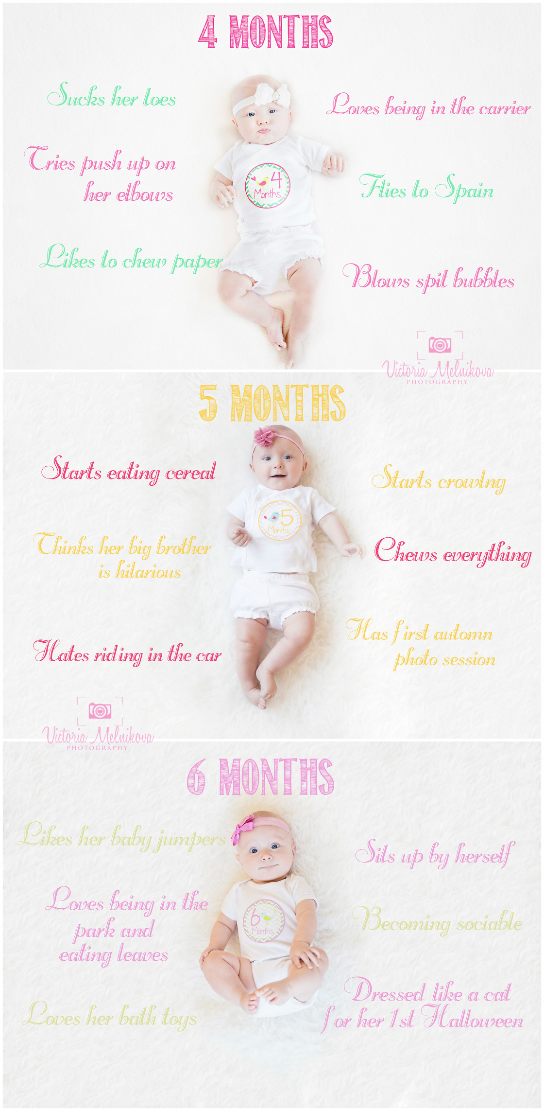 Baby monthly pictures | Central NJ. Baby and Family Photographer - Victoria Melnikova Photography