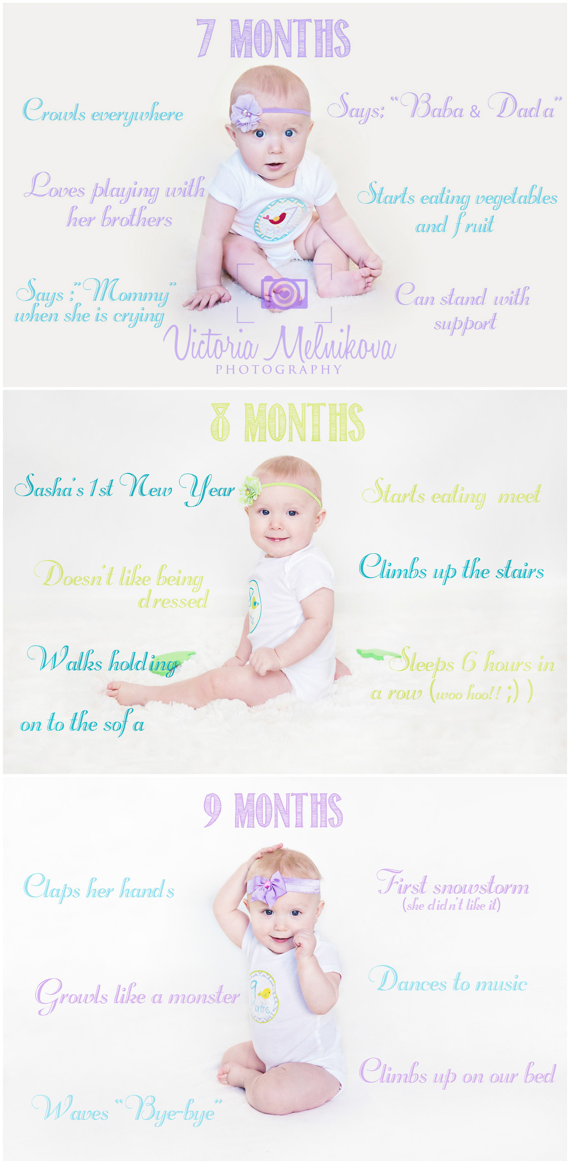 Great each months baby photo idea