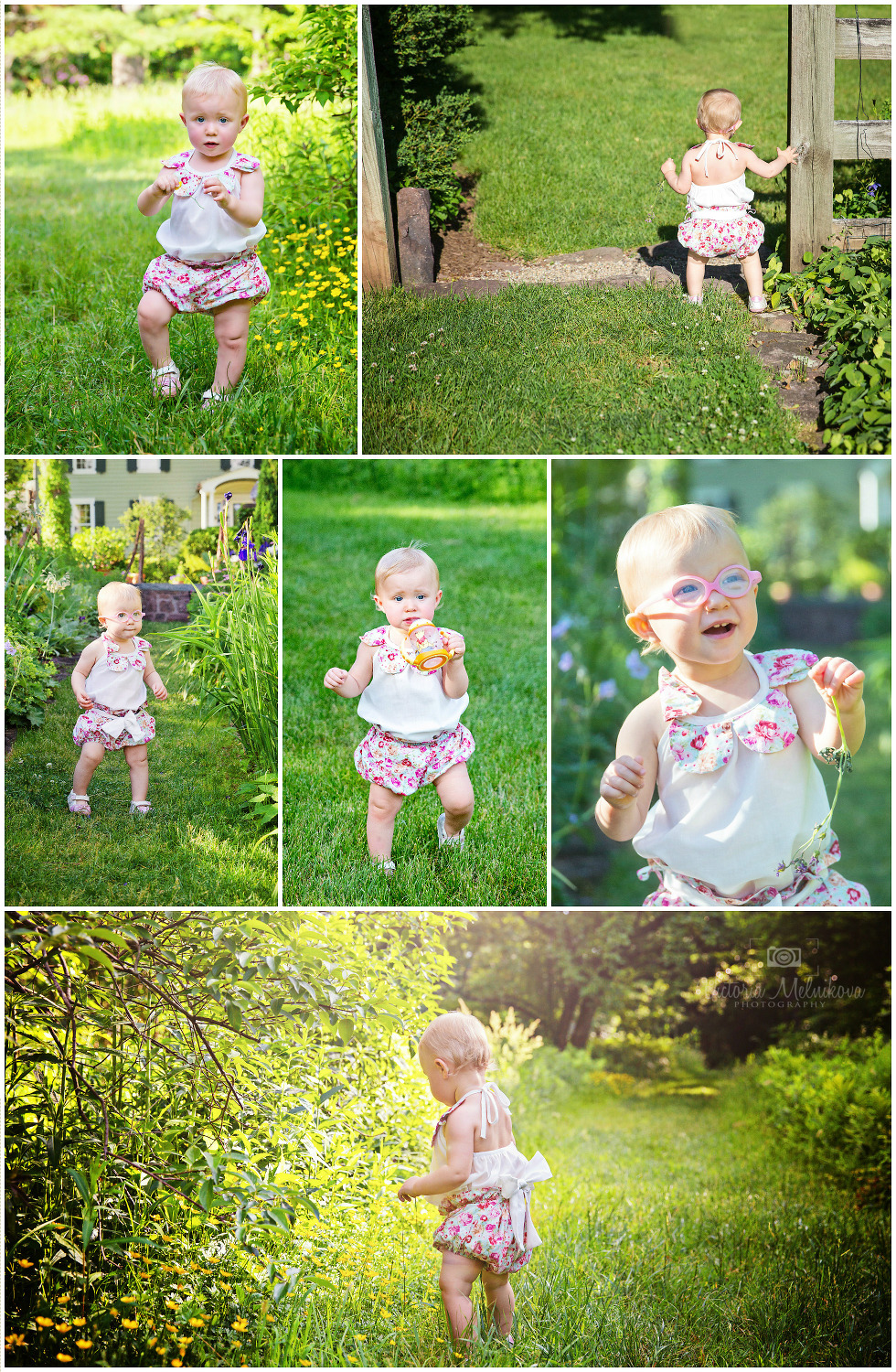 1 years old baby in the park photo ideas