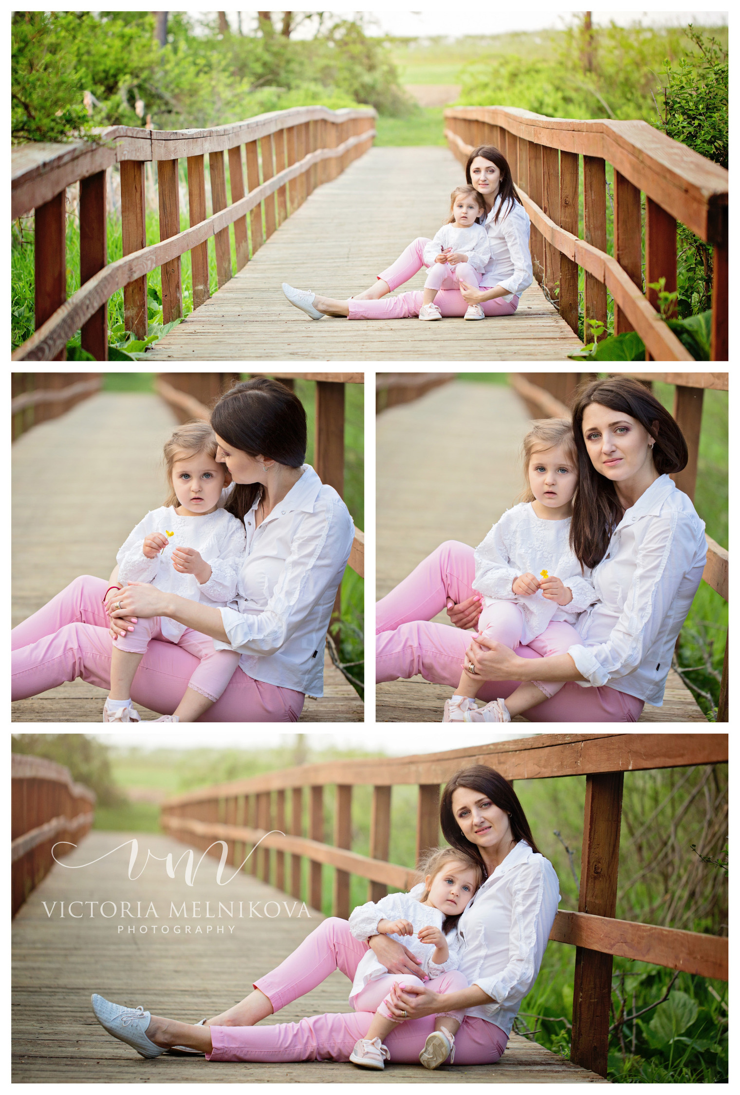 Mother And Daughter Apple Blossom Photoshoot Outdoor Spring Photo